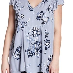 Joe Fresh Ruffled Print Blouse